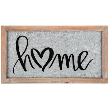 Home Framed Metal Wall Decor